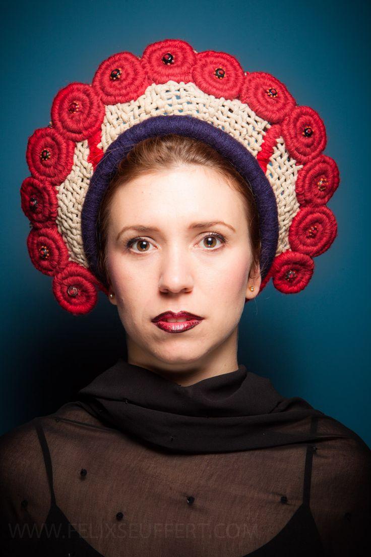 Headdress - designed, made and styled by September Mcnabb.  www.septembermcnabb.com - Photographer: Felix Seuffert.