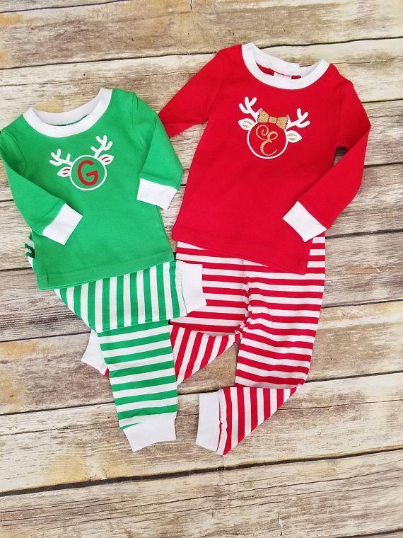 Kids Christmas Pajamas Personalized Holiday Pajamas Christmas Pjs