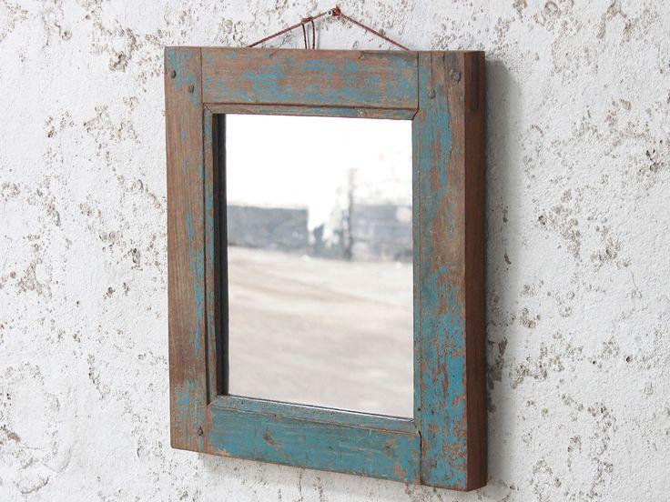 Blue Wall Mirror from Scaramanga's vintage furniture and interior collection #Vintage #interior #homeinspo #inspiration #ideas #homedecorideas #mirror #blue