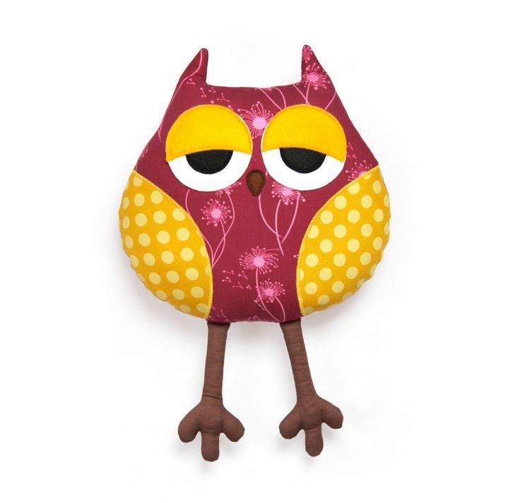 Stuffed Owl Pattern - Sleepy Owl - PDF animal sewing pattern. $9.00, via Etsy.: Pdf Animal, Stuffed Animals, Owl Cushion, Stuffed Owl, Sleepy Owl, Sewing Pdf, Animal Sewing Patterns, Owls, Owl Patterns