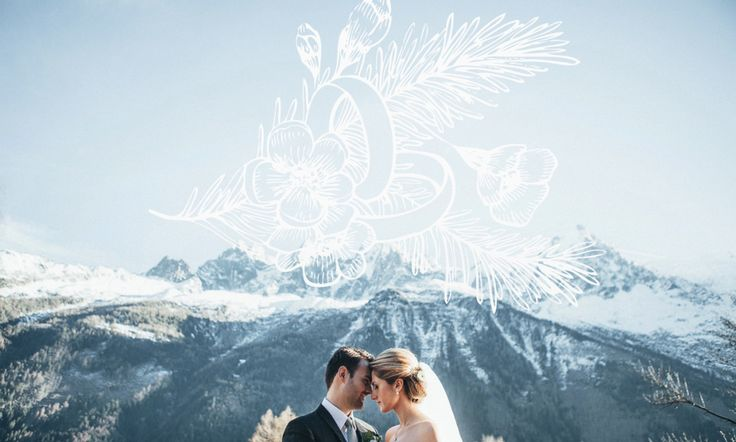 Winter wedding in the French Alps