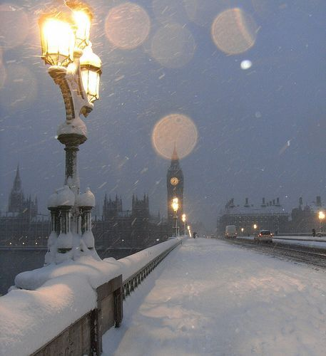 A white Christmas in London would be delightful