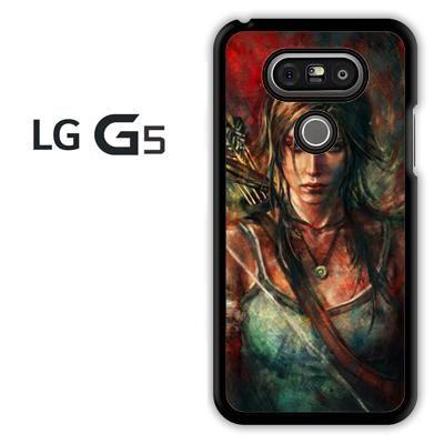 Tomb Rider Lara croft LG G5 Kılıf için Sanat