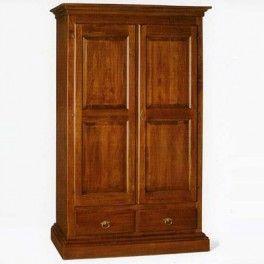 Walnut and Tanganika 2 door wardrobe cm 125x61, h 200. #woodenwardrobe #vintagewardrobe #walnutwardrobe