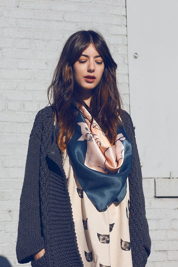scarf and cardigan