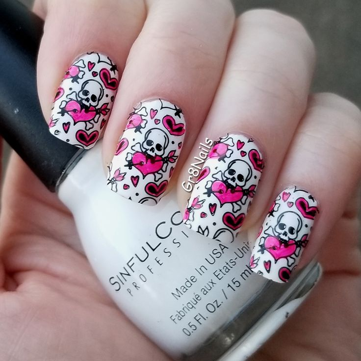 Halloween nail art with Born Pretty nail stamping plate BP-146 item #40078
