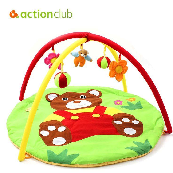 Bear Baby Toy Baby Play Mat  0-1 Year Game Tapete Infantil Educational Crawling Mat Play Gym Cartoon Blanket Puzzle Carpet HK870