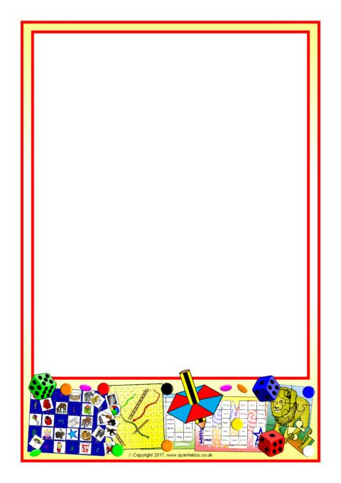 Puzzles and Games A4 Page Borders (SB12236) - SparkleBox