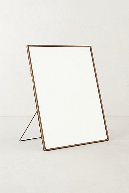 Copper Easel Mirror  #anthropologie