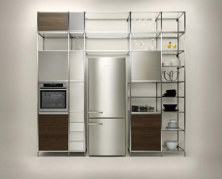 Meccanica #kitchen #design #interiordesign #steel #frame #cicrulareconomy #recyclability #reusability #nomadkitchen