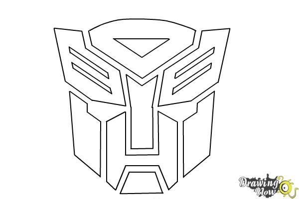 How To Draw Autobot Logo From Transformers Step 9 Transformers Drawing Transformer Tattoo Autobots Tattoo