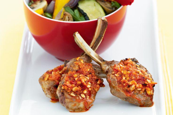 Red pepper & feta lamb chops