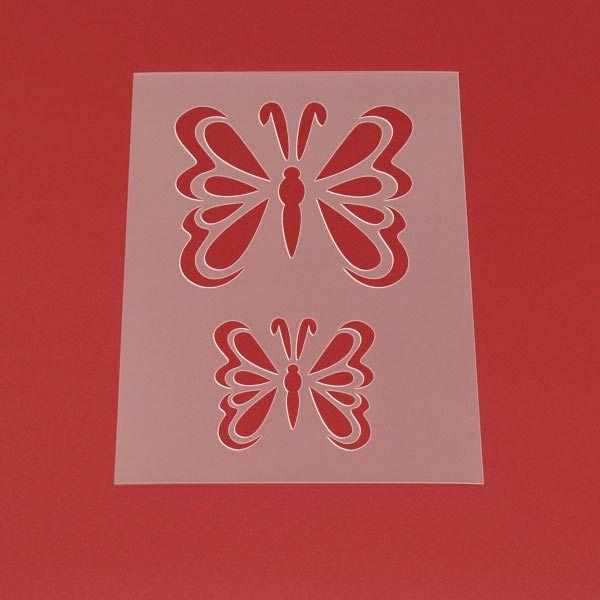 Schablone Butterfly Set Schmetterling - MT92 von Lunatik-Style via dawanda.com