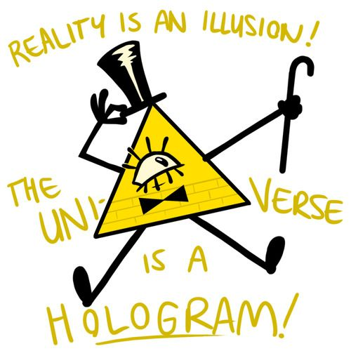 gravity falls Bill that evil isosceles but you gots to love him! He creates all of the mysteries!
