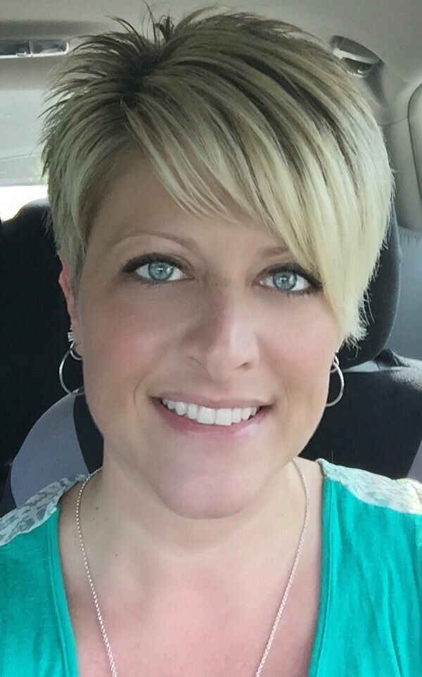 My new asymmetrical pixie haircut--I LOVE IT! ❤️