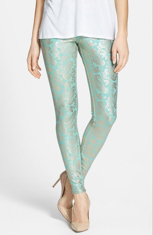 Shiny and metallic leggings