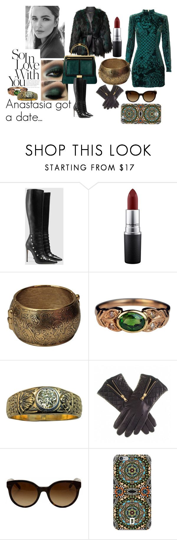 """""""Anastasia in love"""" by supersilent on Polyvore featuring Balmain, Gucci, MAC Cosmetics, Yves Saint Laurent, Tory Burch, DANNIJO, modern, women's clothing, women's fashion and women"""