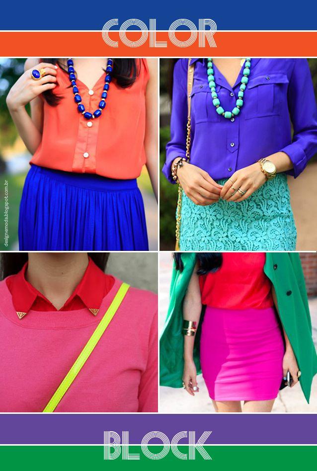 A moda: Color Block! #buenas combinaciones de colores #