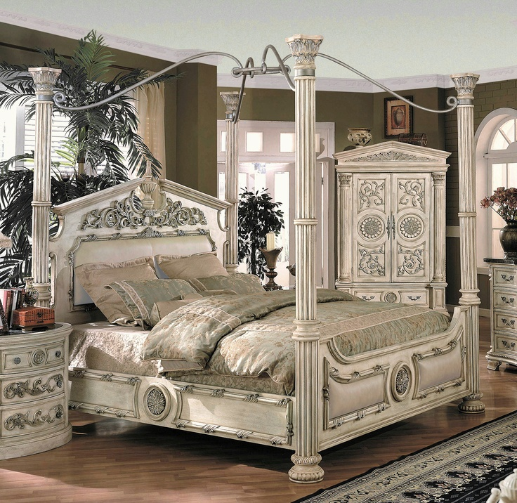How To Use A Four Poster Bed Canopy To Good Effect: 8 Best Beds Fit For A Princess Images On Pinterest