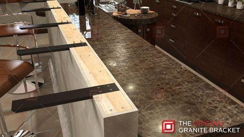 90 best countertop support brackets images on pinterest for Modern corbels for granite countertops