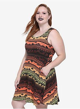 Need something new to wear  Hakuna Matata! This striped print dress from  Disney s The Lion King has a sunset inspired silhouette design featuring  all of ... 027f8593e