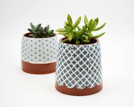 Succulente planteur - terre cuite planteur - cache-pot - jardinière en céramique