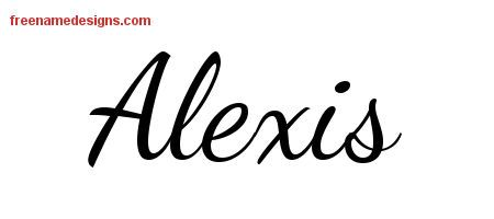 alexis name tattoos | Alexis Lively Script Name Tattoo Designs Free