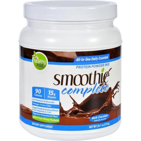 To Go Brands Inc Protein Shake Mix - Smoothie Complete - Natural Dark Chocolate Flavor - 18 Oz