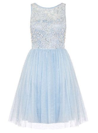 Dorothy Perkins Womens *Quiz Glitter Mesh Flower Prom Dress- Mesh fabric prom dress with a lace bodice and glitter throughout. Length approx 88cm. 100% Polyester. Cool hand wash. Do not bleach, dry clean or tumble dry. http://www.MightGet.com/january-2017-13/dorothy-perkins-womens-quiz-glitter-mesh-flower-prom-dress-.asp