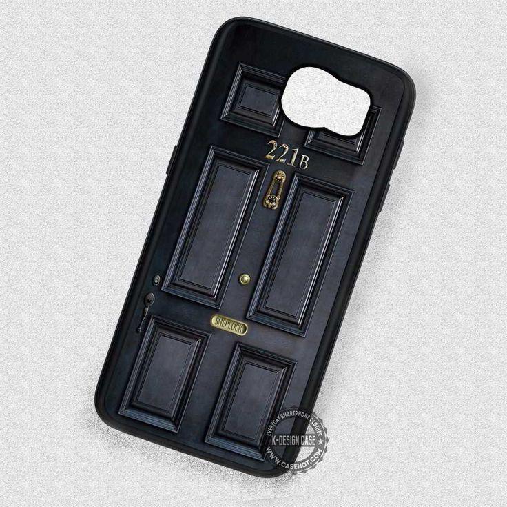 Black Door 221b Sherlock Holmes - Samsung Galaxy S7 S6 S5 Note 7 Cases & Covers