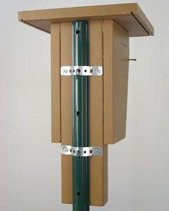 Bluebird House steel post