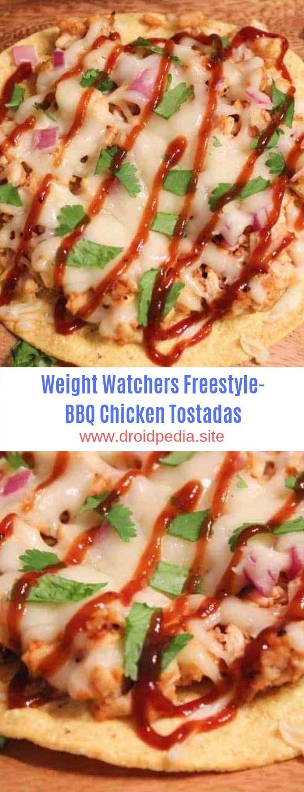 Weight Watchers Freestyle-BBQ Chicken Tostadas #Weight Watchers#BBQ#Chicken