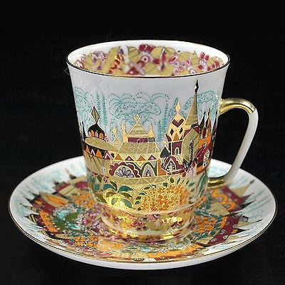 Exclusive-Russian-Imperial-Lomonosov-Porcelain-Tea-Cup-and-Saucer-Spring-Gold