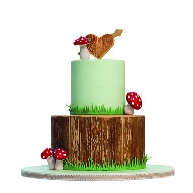 WOOD & SCRIPT Stamp - Stamp a Cake
