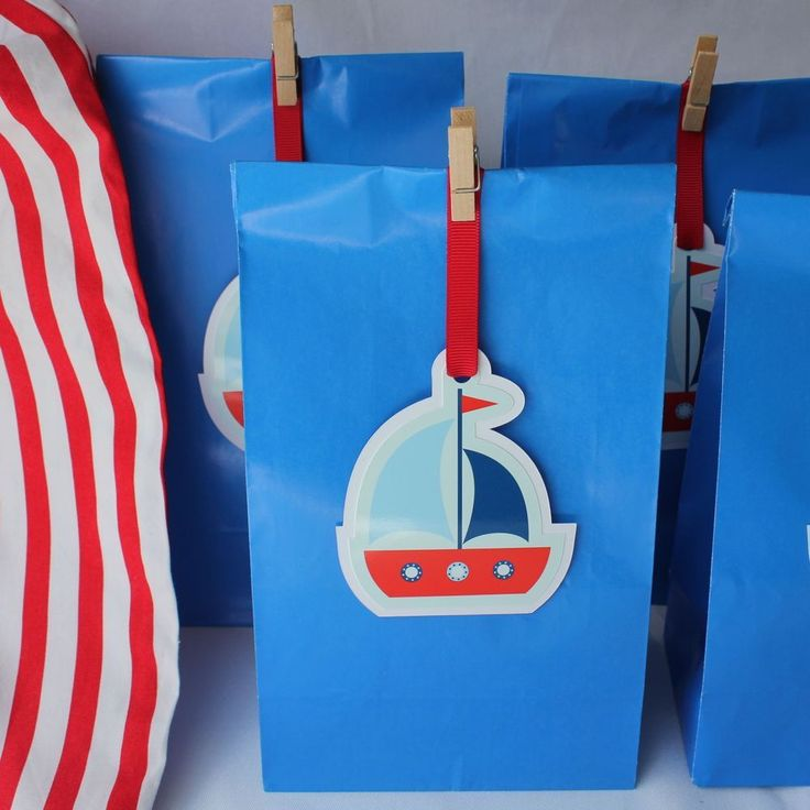 Sailing Paper Party Bags