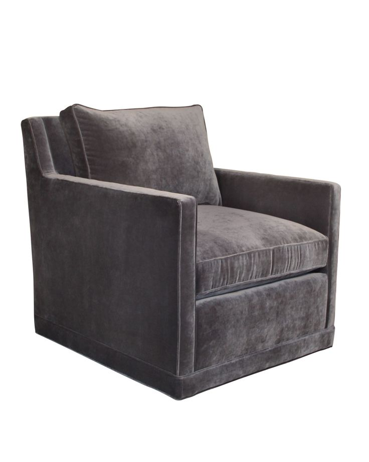 Nina St. Clair Gray Velvet Swivel Chair - Neiman Marcus