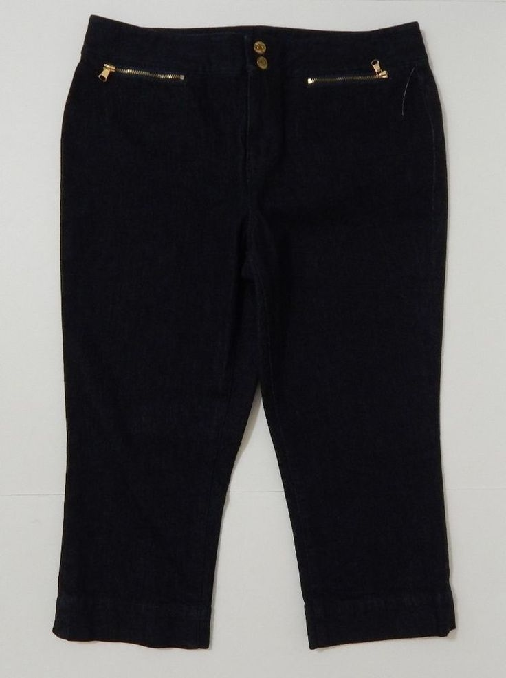 Black Jean Capris Baggage Clothing