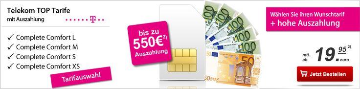 Telekom Complete Comfort Tarife mit bis zu 550 EUR Auszahlung