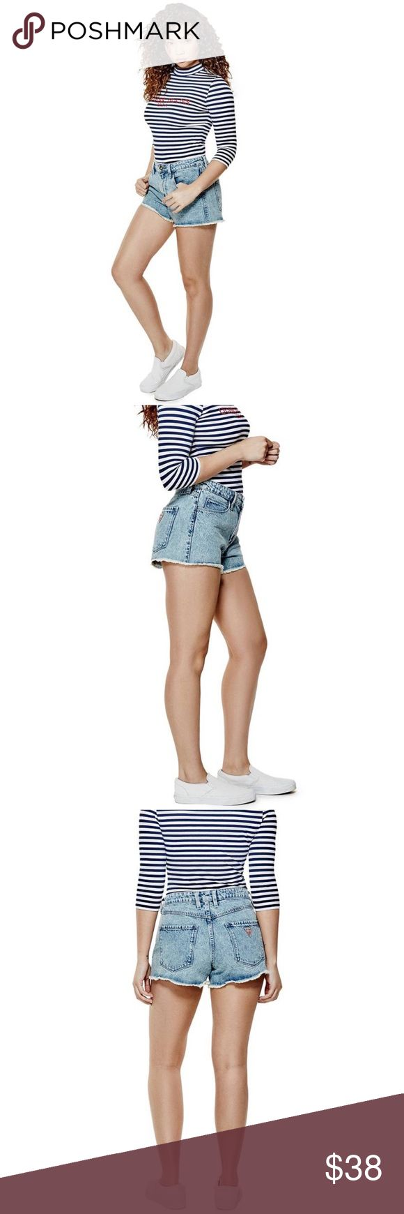 """NWT Guess x A$AP Rocky High Rise Acid Wash Cutoffs Guess 1981 high-rise denim cutoff shorts in '90s acid wash  GUESS Originals x A$AP Rocky Collection  Channel that iconic '90s look with these sexy cutoffs. The ultra-high rise sits at your natural waist and an allover acid wash gives this pair an authentic vintage vibe.  Size 27 10"""" high front rise, 14.25"""" back rise, sits at natural waist. 2.75"""" inseam. 14.5"""" waist  FABRIC: 13 oz. heavyweight non-stretch denim. 100% Cotton. Machine wash  New…"""