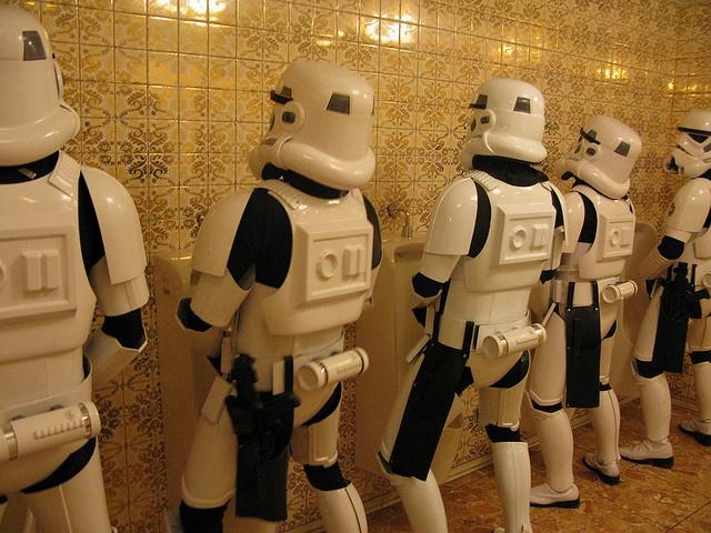 Death Star Mens Room: Funny Things, Death Stars, Stars Men, Stormtroopers Restroom, Stars War, Geeky Nerdy, Men Rooms, Starwars, Geeky Stuff