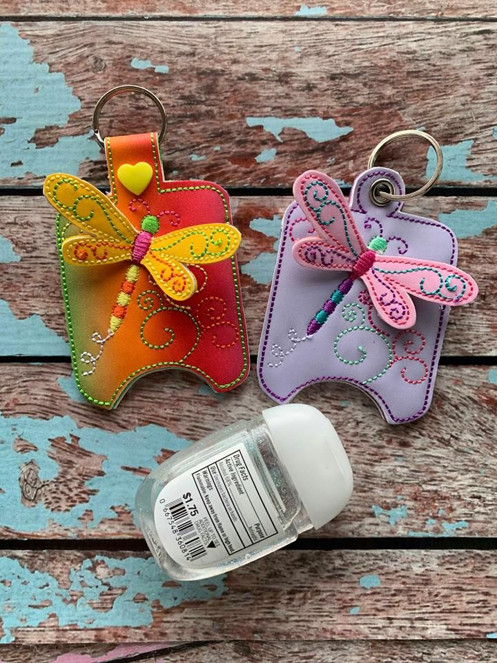 Ith 3d Dragonfly Sanitizer Holders 4x4 And 5x7 Included