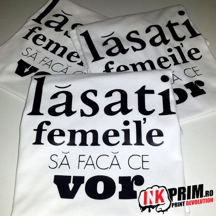 Tricou Personalizat, pentru fete si femei Lăsați Femeile Să Facă Ce Vor