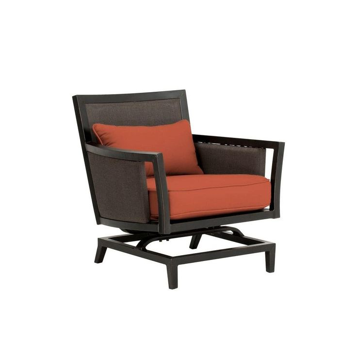 Greystone Patio Motion Lounge Chair in Cinnabar -- CUSTOM. Fully assembled. Industry leading heavy gauge aluminum frame. Hand applied antique bronze frame finish. 100% exclusive Sunbrella acrylic fabric. High quality outdoor cushion fill for lasting comfort and durability.
