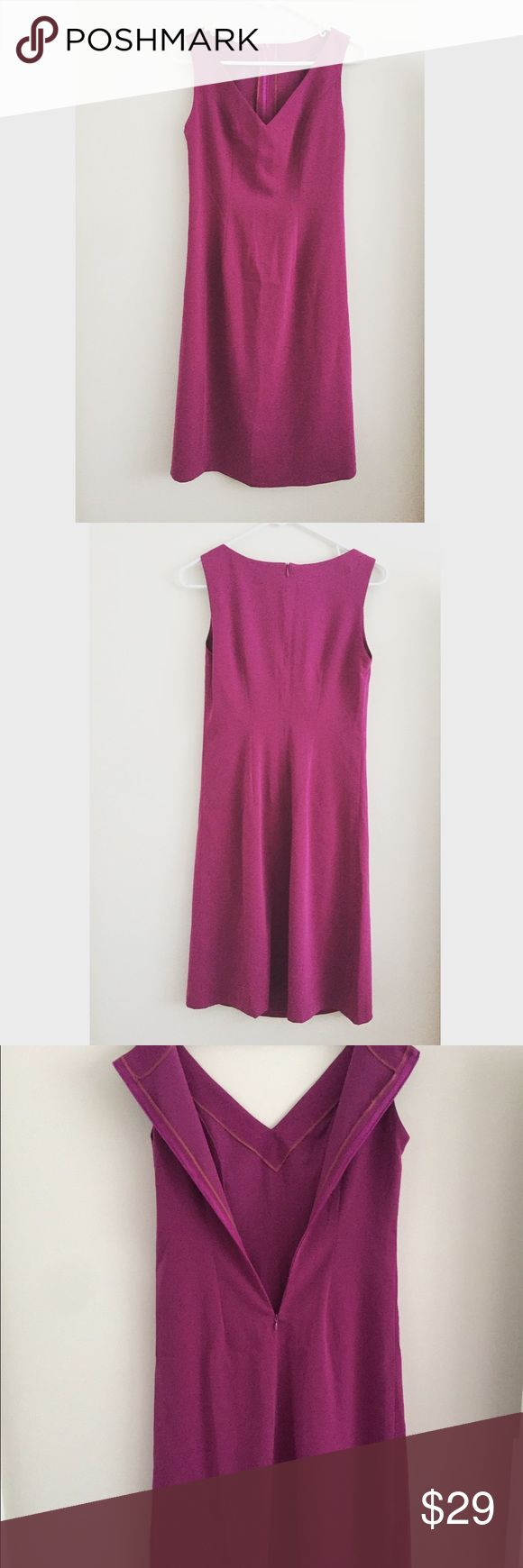 Purple dress Classic purple fitted dress. Perfect for any occasion. Can be dressed up for a night out or worn to work! Fits a size medium. Dresses
