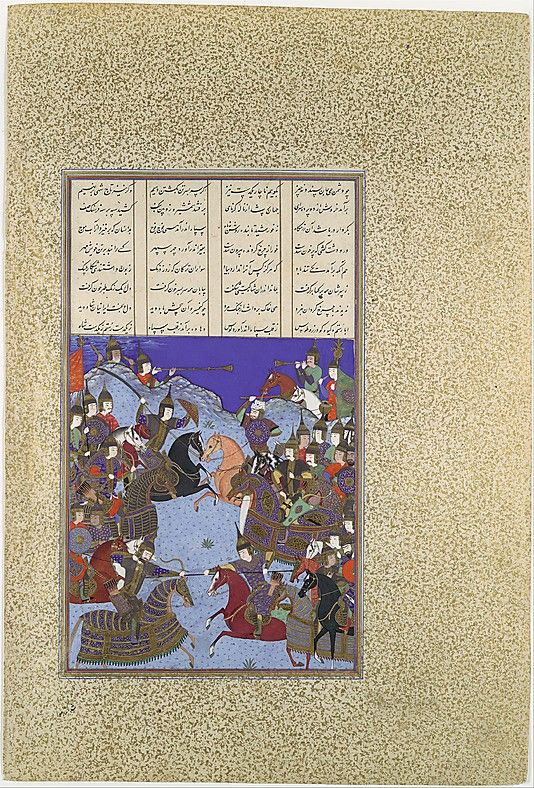 "The Metropolitan Museum of Art - ""The Night Battle of Kai Khusrau and Afrasiyab"", Folio from the Shahnama (Book of Kings) of Shah Tahmasp"