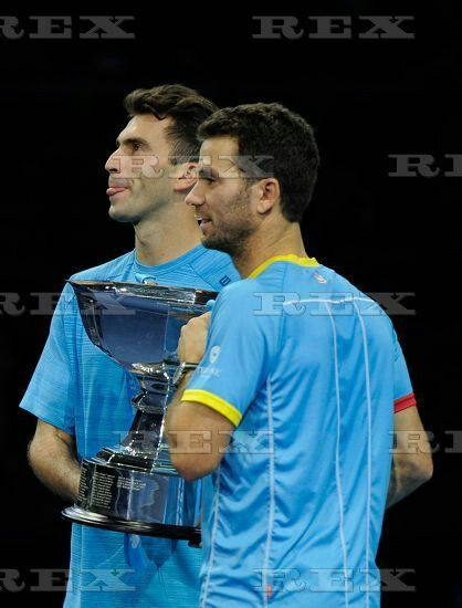 ATP/WTA Tennis World Tour 2015 ATP World Tour Finals 2015 Day Eight O2 Arena, Peninsula Square, London, United Kingdom - 22 Nov 2015  Jean-Julien Rojer / Horia Tecau (ROM) celebrate winning the Men's Doubles FInal during Day Eight of the Barclays ATP World Tour Finals 2015 played at The O2, London on November 22nd 2015 22 Nov 2015