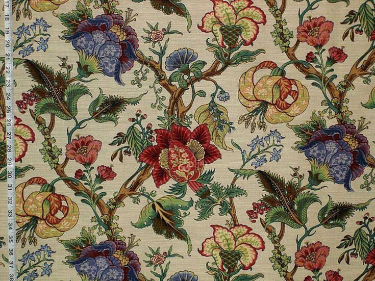 Greeff Jacobean fabric -- kind of love this, though it's bold. Gorgeous in detail.