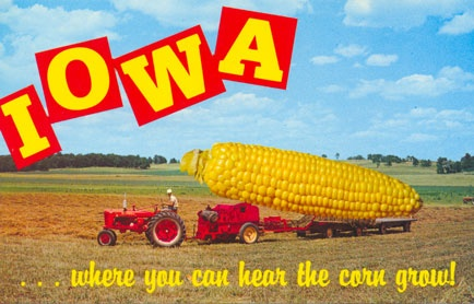 Iowa. You really can hear the corn grow ! The first time I heard it as a child I was so scared because I thought there were Ghosts in the corn field