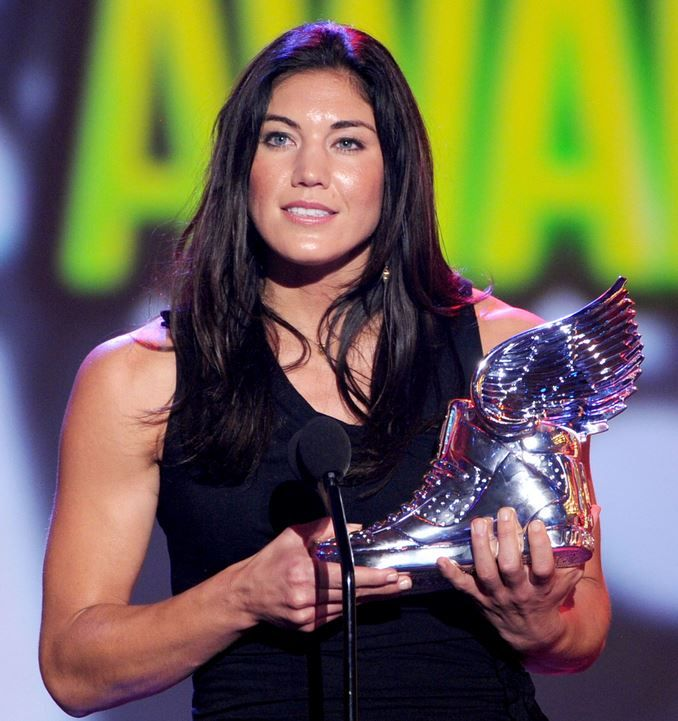 Hope Solo  Top 10 Best Female Soccer Players of all time  http://www.sportyghost.com/top-10-best-female-soccer-players-all-time/