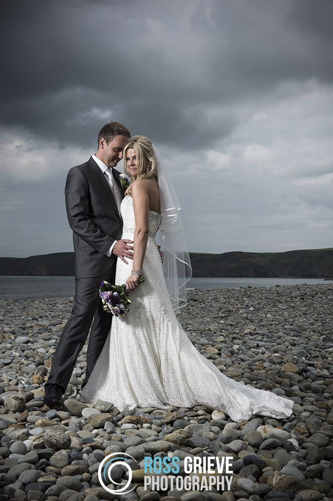 Wedding Photography using a @Profoto AcuteB on Newgale Beach, Pembrokeshire